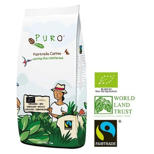 Puro Fairtrade Bio Dark Roast - gemahlen 1.000 g