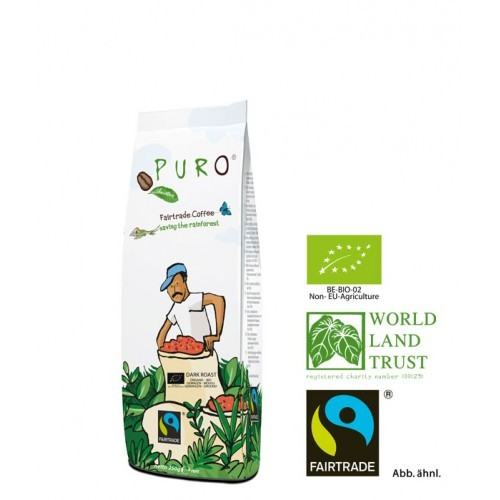 Puro Fairtrade Bio Dark Roast - gemahlen 250 g