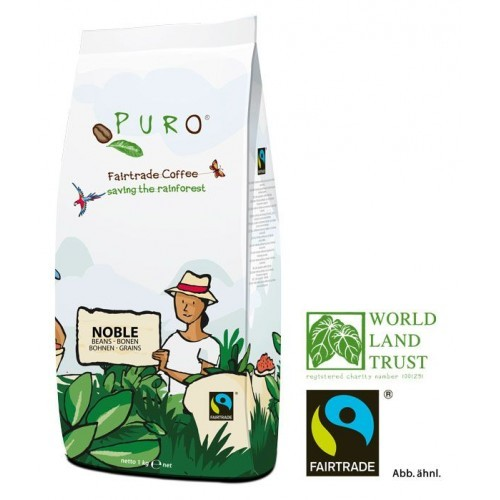 Puro Fairtrade Noble Cafe Creme - Bohne 1.000 g