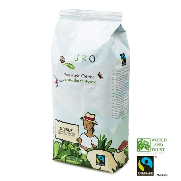 Puro Fairtrade Noble Cafe Creme - gemahlen 1.000 g