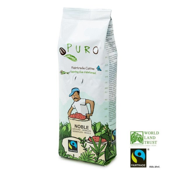 Puro Fairtrade Noble Cafe Creme - gemahlen 250 g
