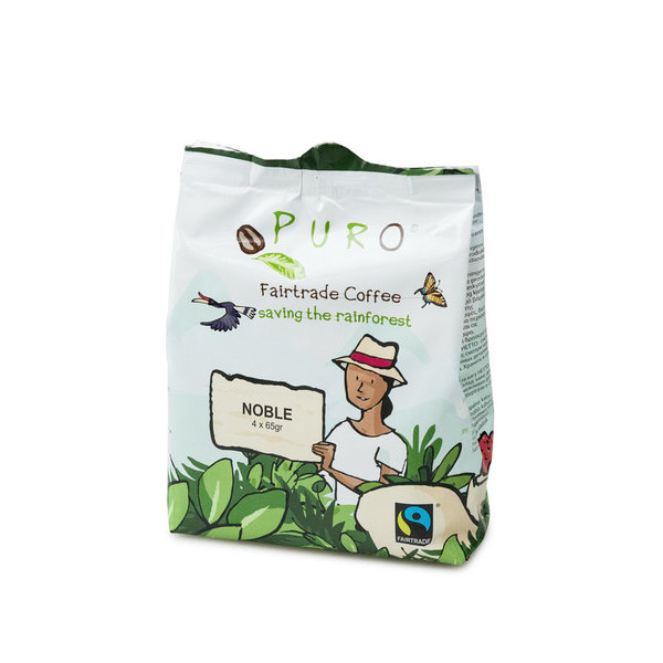 Puro Fairtrade Noble Pouch - 12 x 4 x 65 g (volle Kanne)